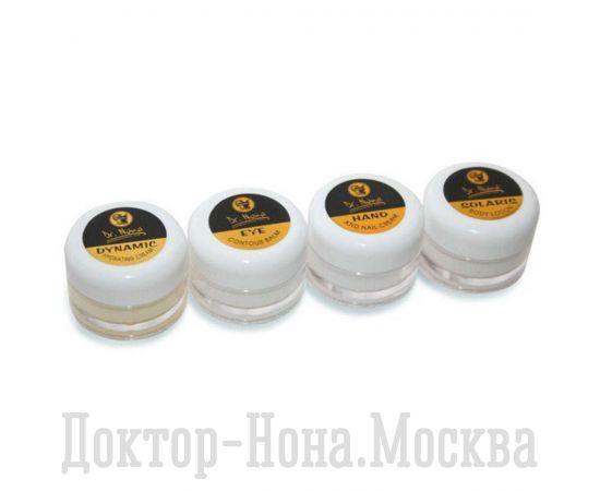 Набор пробников кремов для лица, рук и тела.